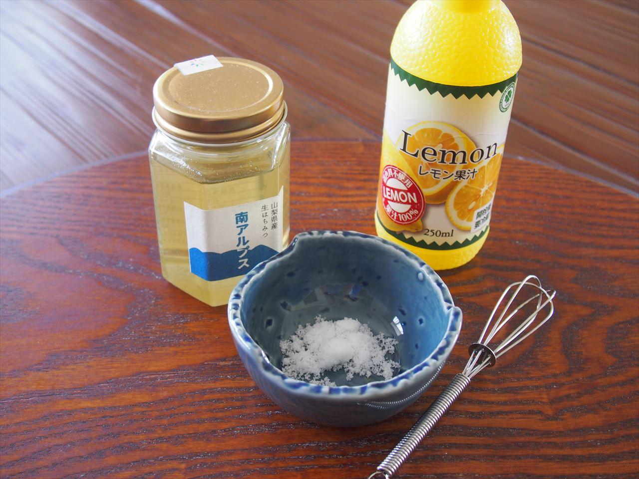生はちみつ・砂糖・レモン果汁で毛穴のお掃除してみました!